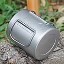 Титановая термокружка туристическая Lixada 450 мл. Чашка из титана. Титановая посуда, кружка, фото 10