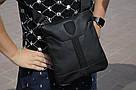 Удобная сумка через плечо, барсетка Puma, пума ферари. Черная, фото 3