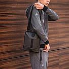 Удобная сумка через плечо, барсетка Puma, пума ферари. Черная, фото 10