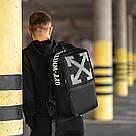 Стильный городской рюкзак OFF WHITE, оф вайт. Черный TOPvse, фото 5