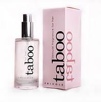 Феромоны для женщин Taboo for HER Секретное оружие женщин соблазна мужчин, Духи с Феромонами 50мл. Франция