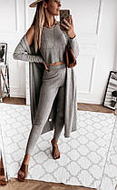 Жіночий ангоровый костюм (кардиган,топ,штани)новинка 2020