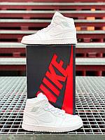 Женские кроссовки Nike Air Jordan 1 Retro Белые, Реплика люкс, фото 1