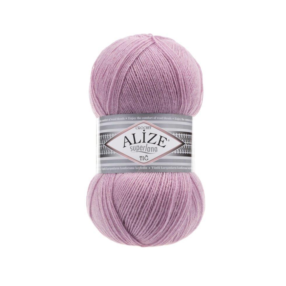 Пряжа Суперлана тиг Superlana tig Alize, № 295, розовый