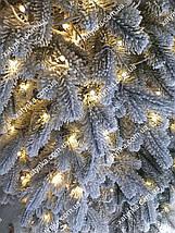 Лита ялинка  Засніжена Елітна 1.80 м з вбудованою гірляндою, фото 3