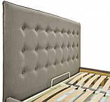Кровать Nicole VIP 140 х 200 см Melva 20 С дополнительной металлической цельносварной рамой Серая, фото 3