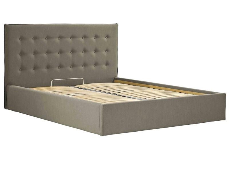 Кровать Двуспальная Nicole VIP 160 х 190 см Melva 20 С дополнительной металлической цельносварной рамой Серая