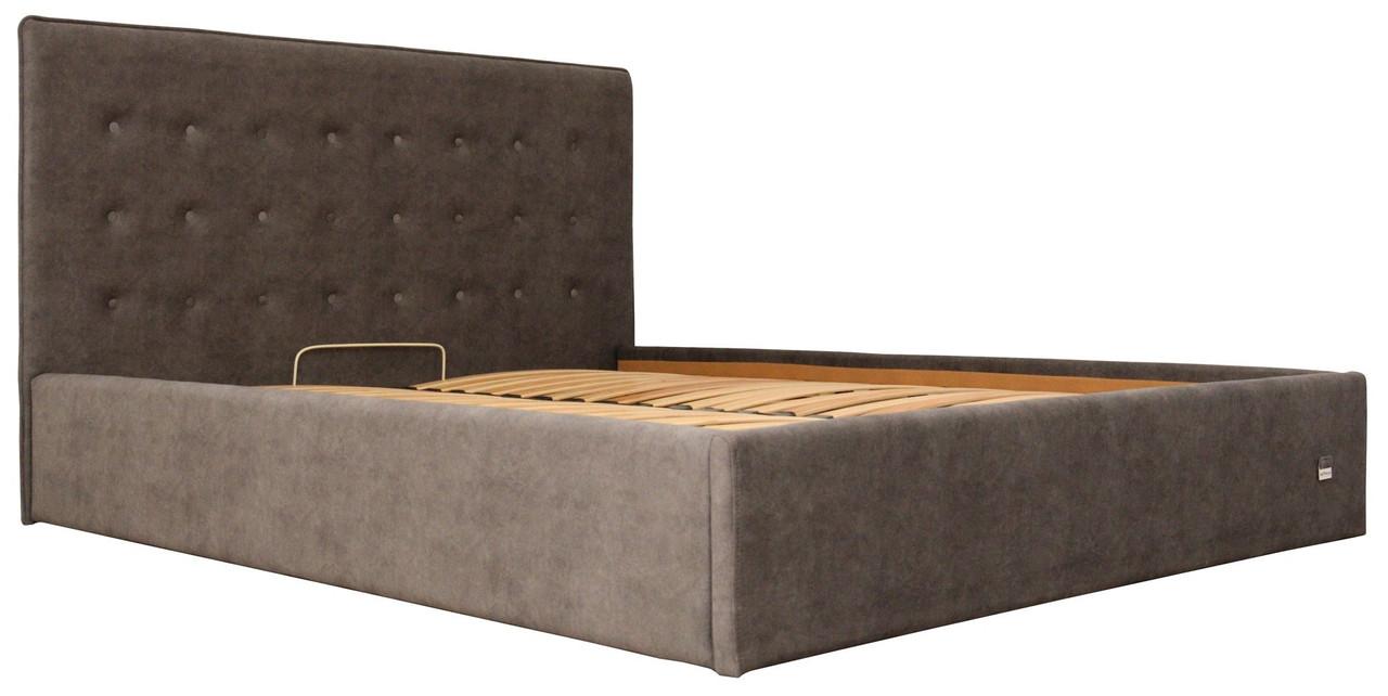 Кровать Двуспальная Nicole VIP 160 х 190 см Teddy 14 С дополнительной металлической цельносварной рамой Серая