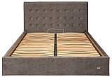 Кровать Двуспальная Nicole VIP 160 х 190 см Teddy 14 С дополнительной металлической цельносварной рамой Серая, фото 2