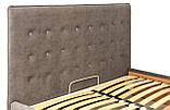 Кровать Двуспальная Nicole VIP 160 х 190 см Teddy 14 С дополнительной металлической цельносварной рамой Серая, фото 4