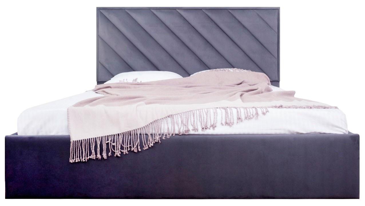 Кровать Двуспальная Chicago Standart 160 х 200 см Amore 32 Темно-серая