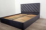 Кровать Двуспальная Richman Чикаго Standart 180 х 190 см Amore 32 Темно-серая, фото 5