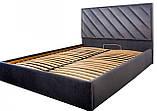 Кровать Двуспальная Richman Чикаго Vip 160 х 190 см Amore 32 С дополнительной металлической цельносварной, фото 2