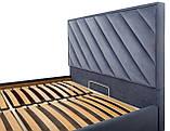 Кровать Двуспальная Richman Чикаго Vip 160 х 190 см Amore 32 С дополнительной металлической цельносварной, фото 4
