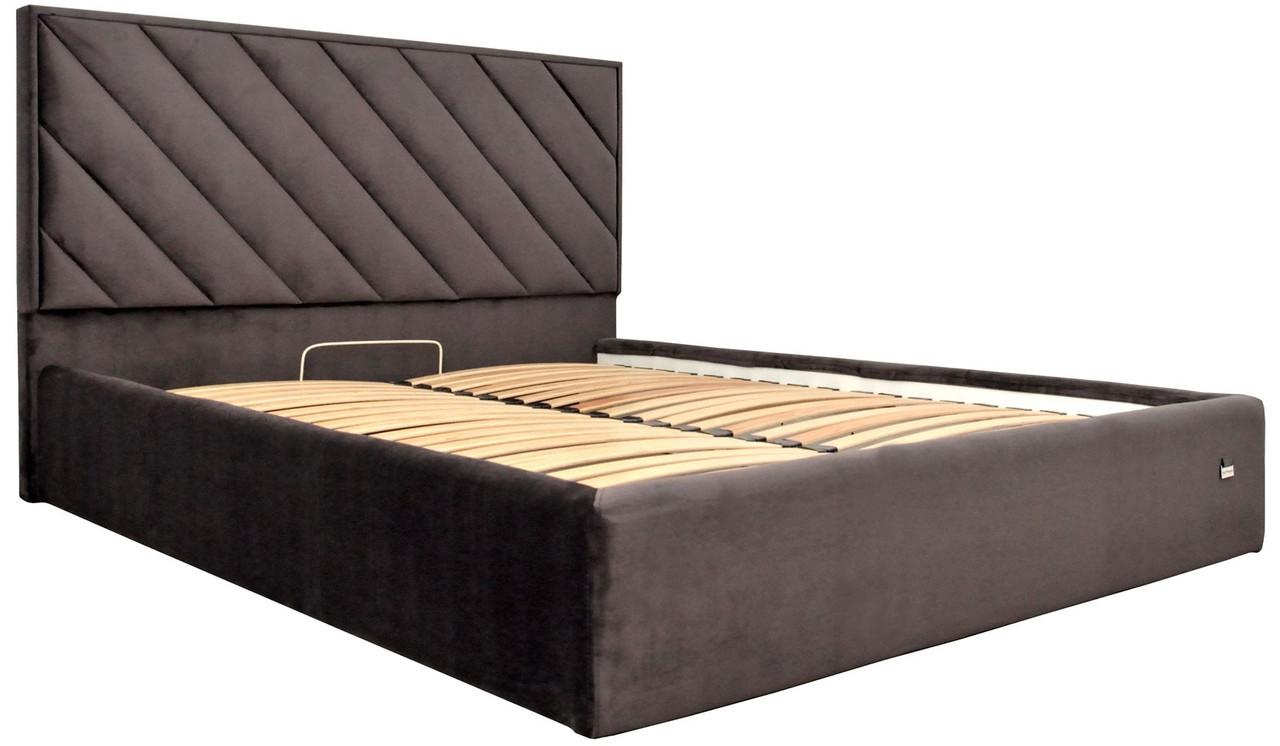 Ліжко Двоспальне Richman Чикаго Comfort 180 х 190 см Riviera 97 З підйомним механізмом і нішею для білизни