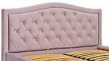 Кровать Richman Скарлетт Comfort 140 х 190 см Riviera 65 С1 С подъемным механизмом и нишей для белья Розовая, фото 4