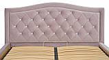 Кровать Richman Скарлетт Comfort 140 х 190 см Riviera 65 С1 С подъемным механизмом и нишей для белья Розовая, фото 5