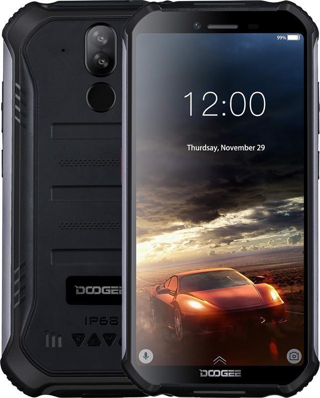"""Смартфон Doogee S40 Lite 2/16GB Dual Sim Mineral Black; 5.5"""" (960х480) IPS / MediaTek MT6580 / ОЗУ 2 ГБ / 16 ГБ встроенной + microSD до 128 ГБ /"""