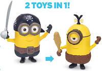 Набор миньонов 2 в 1 пират и девочка 15 см Build-A-Minion Pirate/CRO-Minion оригинал из США