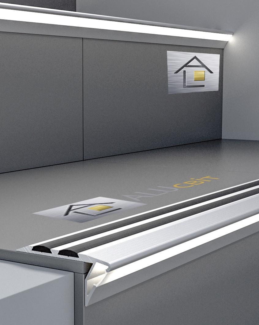 Алюминиевый профиль для ступенек с подсветкой