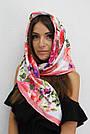 Хустка жіноча атласна елітна турецька 204008, фото 2
