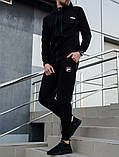 Fila мужской черный спортивный костюм с капюшоном осень.Олимпийка черная Fila+штаны черные Fila, фото 4
