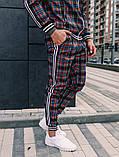 Мужской спортивный костюм шотландец весна-осень цвет серый с лампасом, фото 4