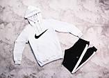 Nike мужской желтый спортивный костюм с капюшоном весна осень. Nike Худи желтое Nike штаны черные, фото 2
