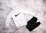Nike мужской желтый спортивный костюм с капюшоном весна осень. Nike Худи желтое Nike штаны черные, фото 3