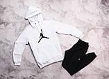 Jordan  мужской лимонный спортивный костюм с капюшоном весна осень.Jordan Худи лимонное Jordan штаны серые, фото 3