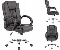 Офісне крісло WINGS Компютерне крісло ЧОРНЕ офисное кресло компьютерный стул Компьютерное кресло из экокожи