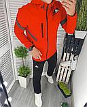 Adidas мужской серый спортивный костюм с капюшоном осень весна. Олимпийка Adidas серый штаны Adidas черные, фото 3