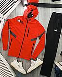 Adidas мужской серый спортивный костюм с капюшоном осень весна. Олимпийка Adidas серый штаны Adidas черные, фото 4