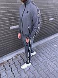 PHILIPP PLEIN 1078 мужской черный спортивный костюм осень.Куртка PHILIPP PL черная штаны PHILIPP PL черные, фото 4