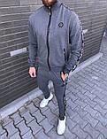 PHILIPP PLEIN 1078 мужской черный спортивный костюм осень.Куртка PHILIPP PL черная штаны PHILIPP PL черные, фото 5
