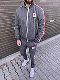 Adidas мужской черный спортивный костюм весна-осень. Кофта и штаны Adidas черные с лампасами, фото 3