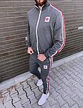 Adidas мужской черный спортивный костюм весна-осень. Кофта и штаны Adidas черные с лампасами, фото 4