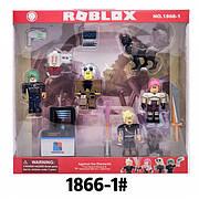 Коллекционные фигурки Роблокс 4 в 1 с аксессуарами и животным | Roblox Legends 1866-1