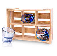 Набор 6 стаканов 520013 для виски Rainbow Indigo, фото 1