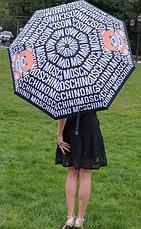 Зонт напівавтоматичний складной Moschino Toy Bear чорний, фото 2