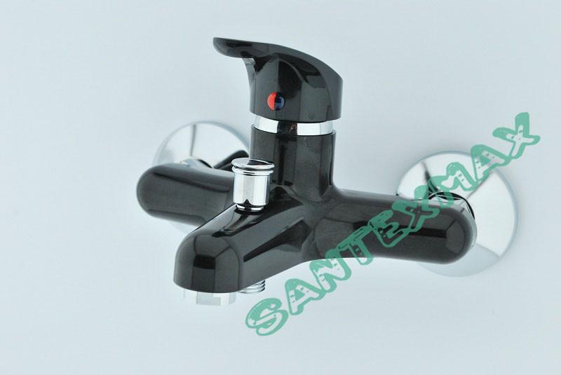 Смеситель для ванной из термопласта Plamix Afina 009 black
