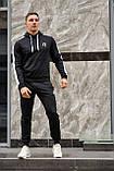 Reebok мужской серый спортивный костюм с лампасами осень весна. Reebok  худи серое штаны Reebok серое, фото 2