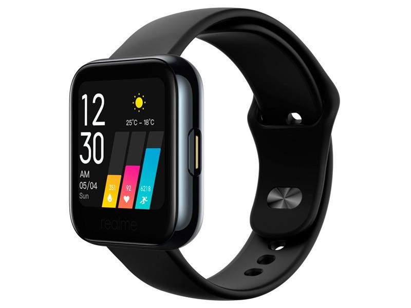 "Смарт-часы Realme Watch Black; 1.4"" (360х360) TFT сенсорный / Bluetooth / 36.5 x 11.8 x 256 мм, 31 г / IP68 / 160 мАч / черный"