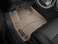 Коврики резиновые с бортиком, передние, бежевые. (WeatherTech) - Highlander - Toyota - 2014