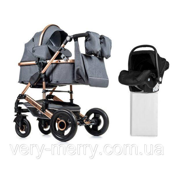 Універсальна коляска 3 в 1 Ninos Freelander + автокрісло (сірий колір)