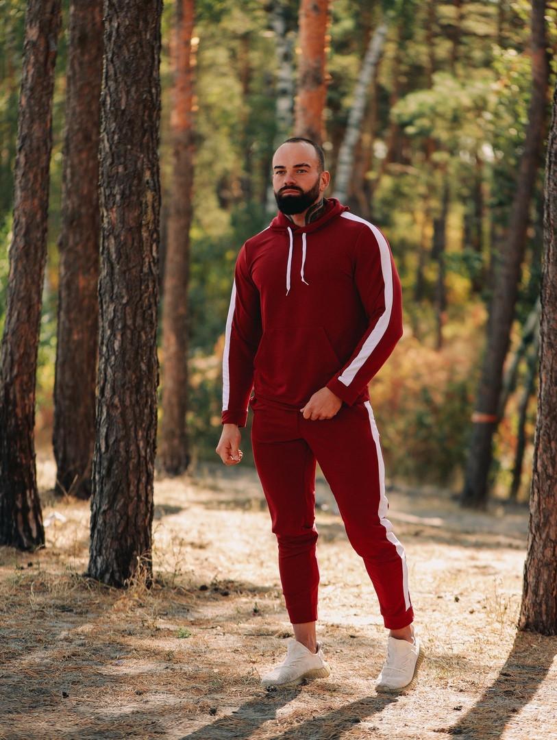 Asos tech-diving  мужской красны с капюшоном спортивный костюм осень весна.Asos худи +штаны красны с лампасами