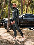 Asos tech-diving  мужской красны с капюшоном спортивный костюм осень весна.Asos худи +штаны красны с лампасами, фото 2