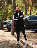 Asos tech-diving  мужской красны с капюшоном спортивный костюм осень весна.Asos худи +штаны красны с лампасами, фото 3