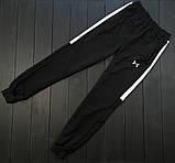 Under Armour мужской черный спортивный костюм на молнии осень. Under Armour Поло +штаны +сумка черные комплект, фото 5