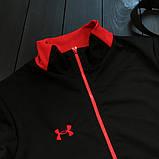 Under Armour мужской черный с красным спортивный костюм на молнии осень.Under Armour Поло+штаны+сумка комплект, фото 3